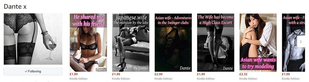 Dantes erotic story books